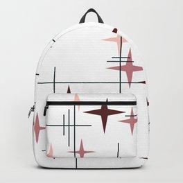 Mid Century Modern Stars (Pink) Backpack