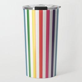 Gorgeous Colorful Stripes LOVE Typography Travel Mug