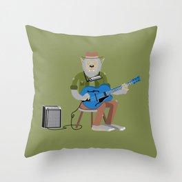 Werewolf Blues Throw Pillow