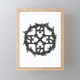 HARD SEX Framed Mini Art Print