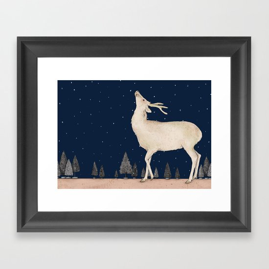 Winter is coming  Framed Art Print