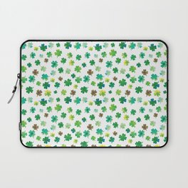 Lucky Watercolor Clovers Laptop Sleeve