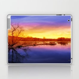 Tranquil Sunset Landscape Laptop & iPad Skin