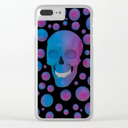 Happy skull Clear iPhone Case