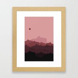 Love Mountain Range Framed Art Print