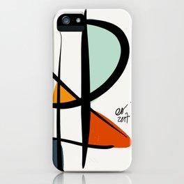Abstract Minimal Lyrical Expressionism Art Blue Orange iPhone Case