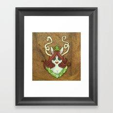 The Green Princess Framed Art Print