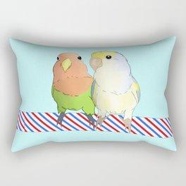 Cute lovebirds couple Rectangular Pillow