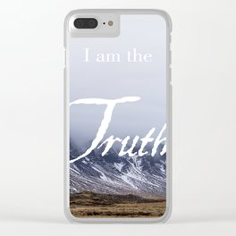 John 14:6 (2 of 3) I Am the Truth Inspirational Bible Verse Christian Art Clear iPhone Case