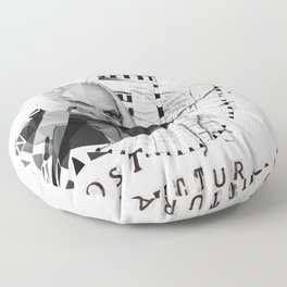 Michel Foucault Floor Pillow