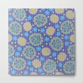 Kantha floral 4 Metal Print