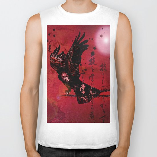 The crow philosophizes Biker Tank