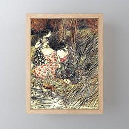 The Flowery Naiades By Arthur Rackham Framed Mini Art Print