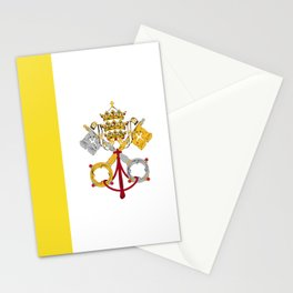 Vatican City Holy See flag emblem Stationery Cards