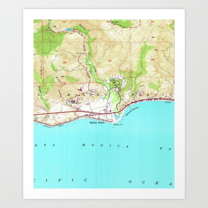Vintage Map of Malibu California (1950) Art Print by vuramedia on zuma beach, venice california map, irvine california map, pacific palisades, lake la california map, ventura beach california map, beverly hills, palm springs, santa monica california map, newport beach, bel air california map, valencia california map, big sur, los angeles map, santa ynez river california map, san jose california map, long beach, southern california map, san diego map, corona california map, laguna california map, west hollywood, los angeles county, brentwood california map, calabasas california map, huntington beach, hollywood map, santa barbara map, zuma beach california map, california road map, santa barbara, san fernando valley, orange county, santa monica, pepperdine university,