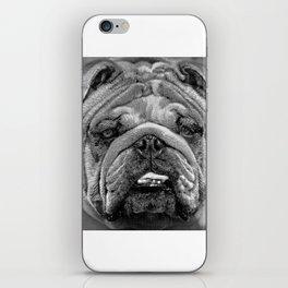 Bulldog Black and White iPhone Skin