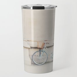 a mint green bicycle is the perfect way to travel around Cambridge Travel Mug