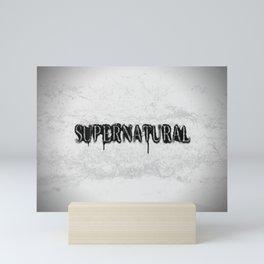 Supernatural monochrome Mini Art Print