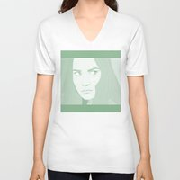 india V-neck T-shirts featuring INDIA by Itxaso Beistegui Illustrations