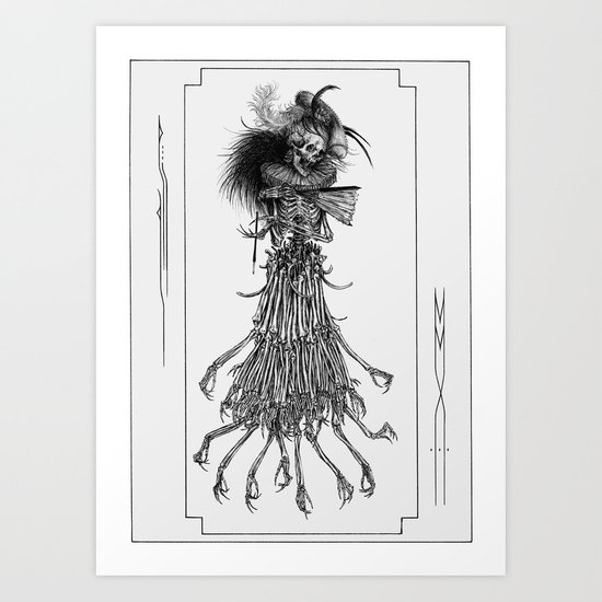 Death Gown Art Print