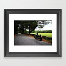 The Road and the Ride Framed Art Print
