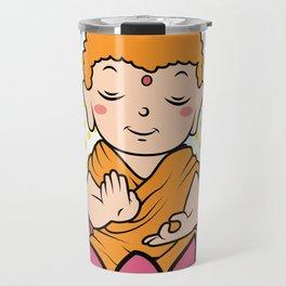 Buddhism lotus meditation soul cowl gift Travel Mug