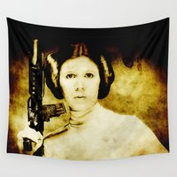 leia Wall Tapestries featuring Vintage Leia by Freak Shop | Freak Products
