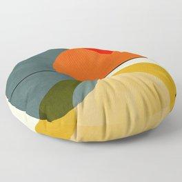 mid century geometric modern painting abstract II Floor Pillow