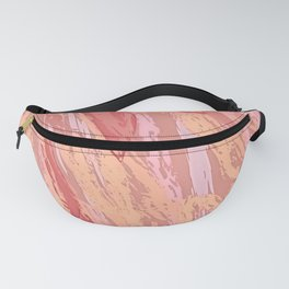 Phoenix - Fire Bird Feathers Peach Coral Fanny Pack