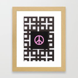 black and white symbol Framed Art Print