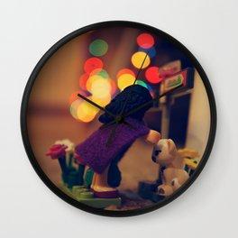The Girl in the Purple Cloak Wall Clock