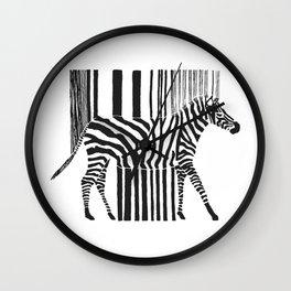 Zebra Code Wall Clock