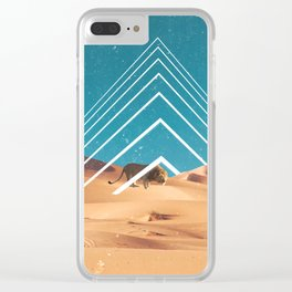 The Lion in the Desert Clear iPhone Case