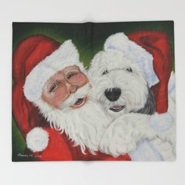 Santa's Helper Throw Blanket