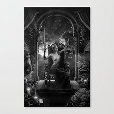 XI. Justice Tarot Card Illustration Canvas Print