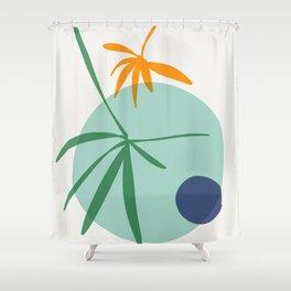 zen garden - blue moon Shower Curtain