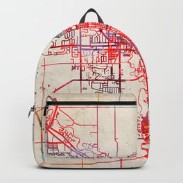 Goshen map Indiana IN Backpack