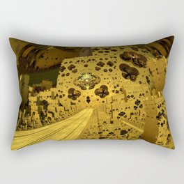 City of Golden Dust Rectangular Pillow