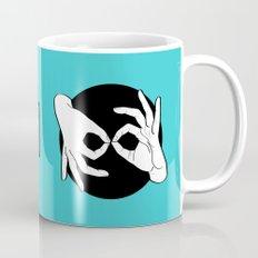 Sign Language (ASL) Interpreter – White on Black 11 Mug