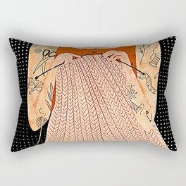 Knitting because murder is wrong Rectangular Pillow