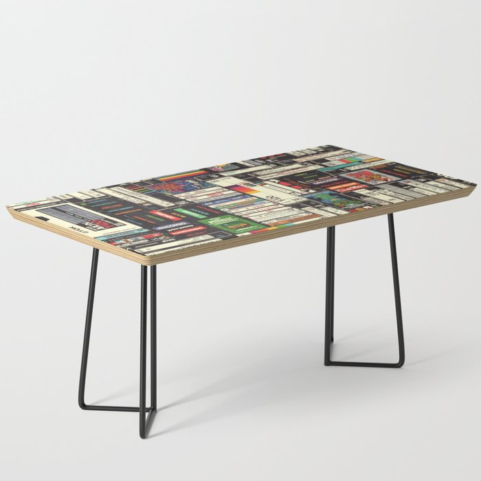 Cassettes, VHS & Games Coffee Table