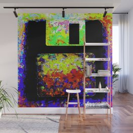 Corrupted Floppy Disk Files Wall Mural