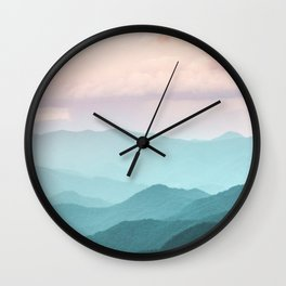 Smoky Mountain National Park Sunset Layers II - Nature Photography Wall Clock