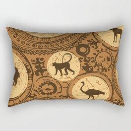 African Tribal Pattern No. 5 Rectangular Pillow