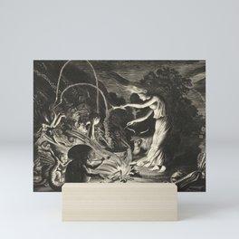 Witch - 17th Century Illustration Mini Art Print