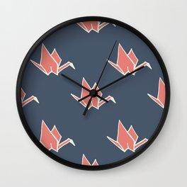 Petite Origami Cranes Wall Clock