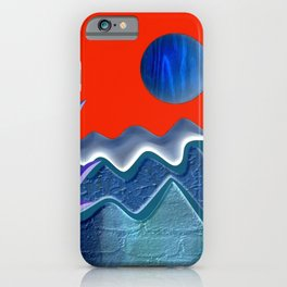 Mountain illustration iPhone Case