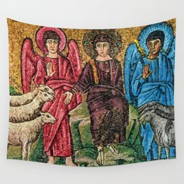 Judgement Day of the Sheep and the Goats Mosiac Basilica of Saint Apollinare Nuovo, Ravenna, Italy Wall Tapestry