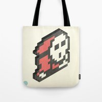 nintendo Tote Bags featuring Nintendo #4 by Dabwood2