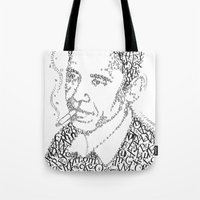 obama Tote Bags featuring obama times by Vin Zzep